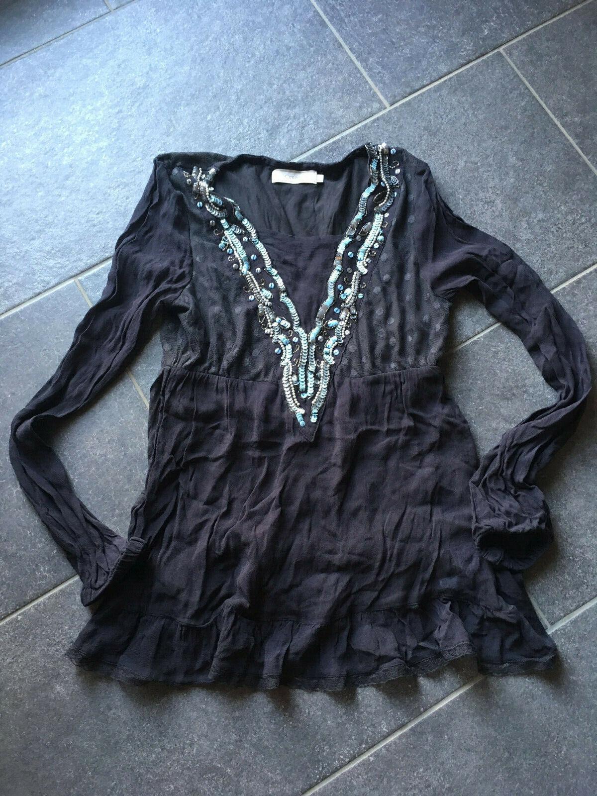 Superschöne neueTunika/Bluse von CREAM Gr. S 34/36 Boho Style schwarz