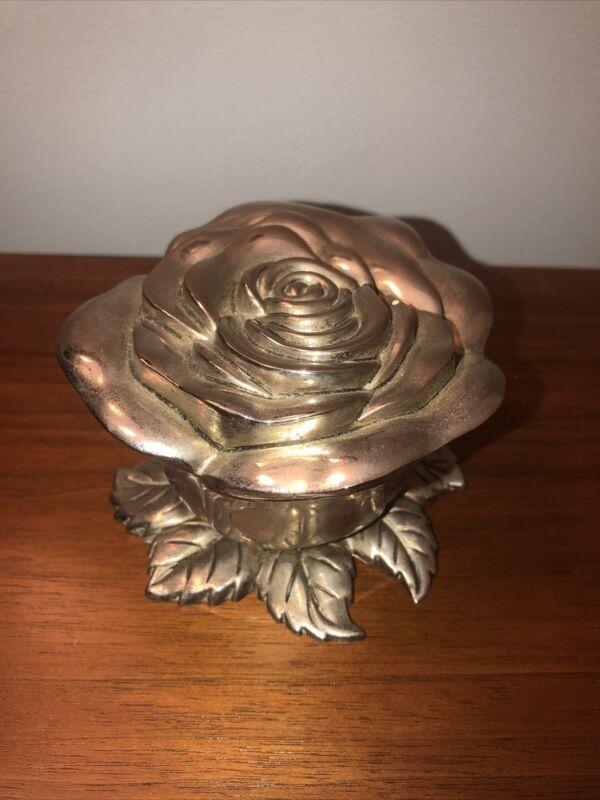 vintage godinger silver rose box