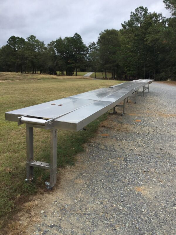 Stainless Steel Sectional Conveyor W/Motor (Located In Sanford, NC)