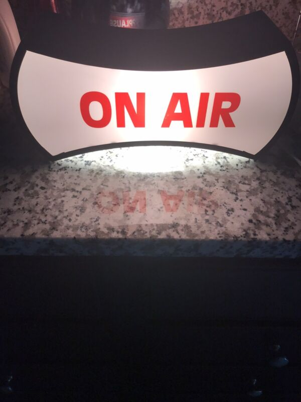 On Air Applause Double Sided Light Box Red & White TV Radio Studio Vintage Sign