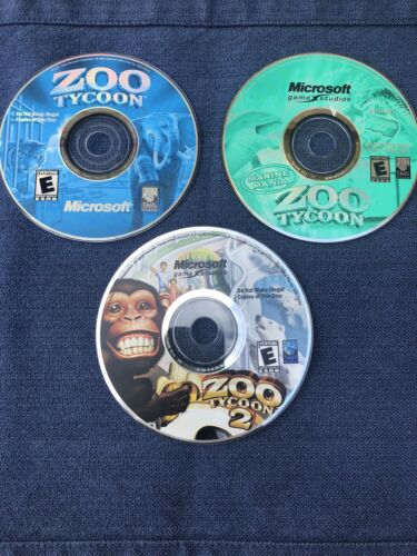 Computer Games - Zoo Tycoon Pc Computer Games 3 Discs