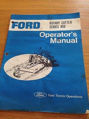 Ford Rotary Cutter 60 Series 908 Operators Owners Manual Bush Hog