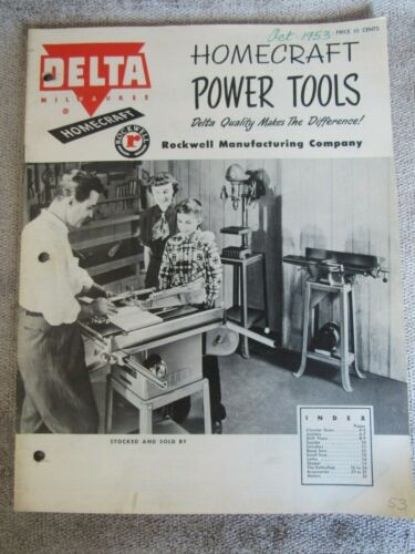 Vintage 1953 Delta Milwaukee HOMECRAFT Power Tools Catalog Form AD 828