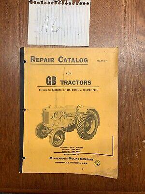 Parts Manual - Gb Minneapolis Moline Gb Original Vintage Oem