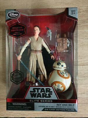 Disney Store Star Wars Elite Series Die-cast Rey And BB-8 Figures