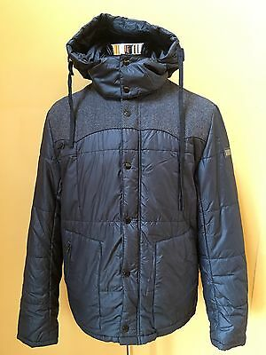 Dolce&Gabbana Men's Warm Winter Jacket Black with Grey Front Size 52 M / L