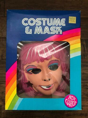 "1985 Vintage (Ben Cooper) ""JEM"" (Small 4-6) Halloween Costume & Mask, RARE!"