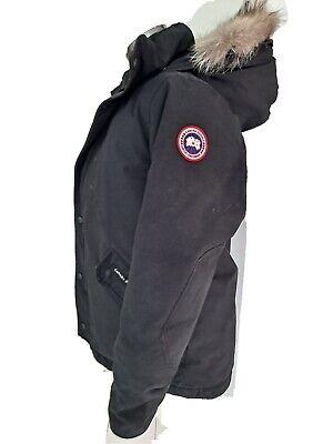 Canada goose Jacket Parka fox Fur Trim Youth 14-16 Large Black fits adult S M