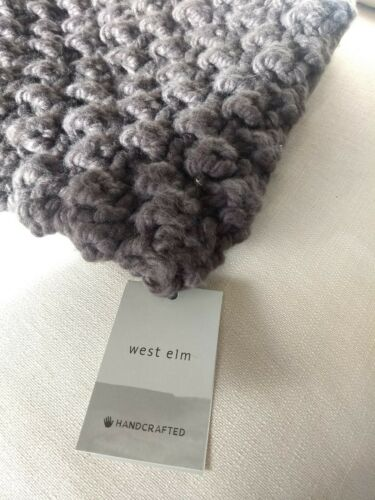 West Elm Bobble Knit Pillow Cover NWT 24x24 Slate Gray Squar