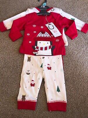 Baby Pyjamas 2 Pairs Penguin Newborn New Baby Girl Boy (Baby Girl Christmas Pyjamas)