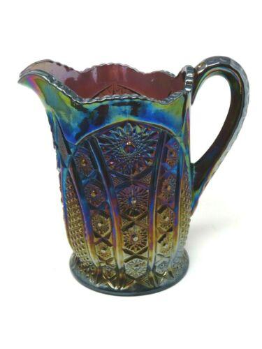 Vintage Indiana Glass Amethyst Heirloom Sunset Carnival Pitcher