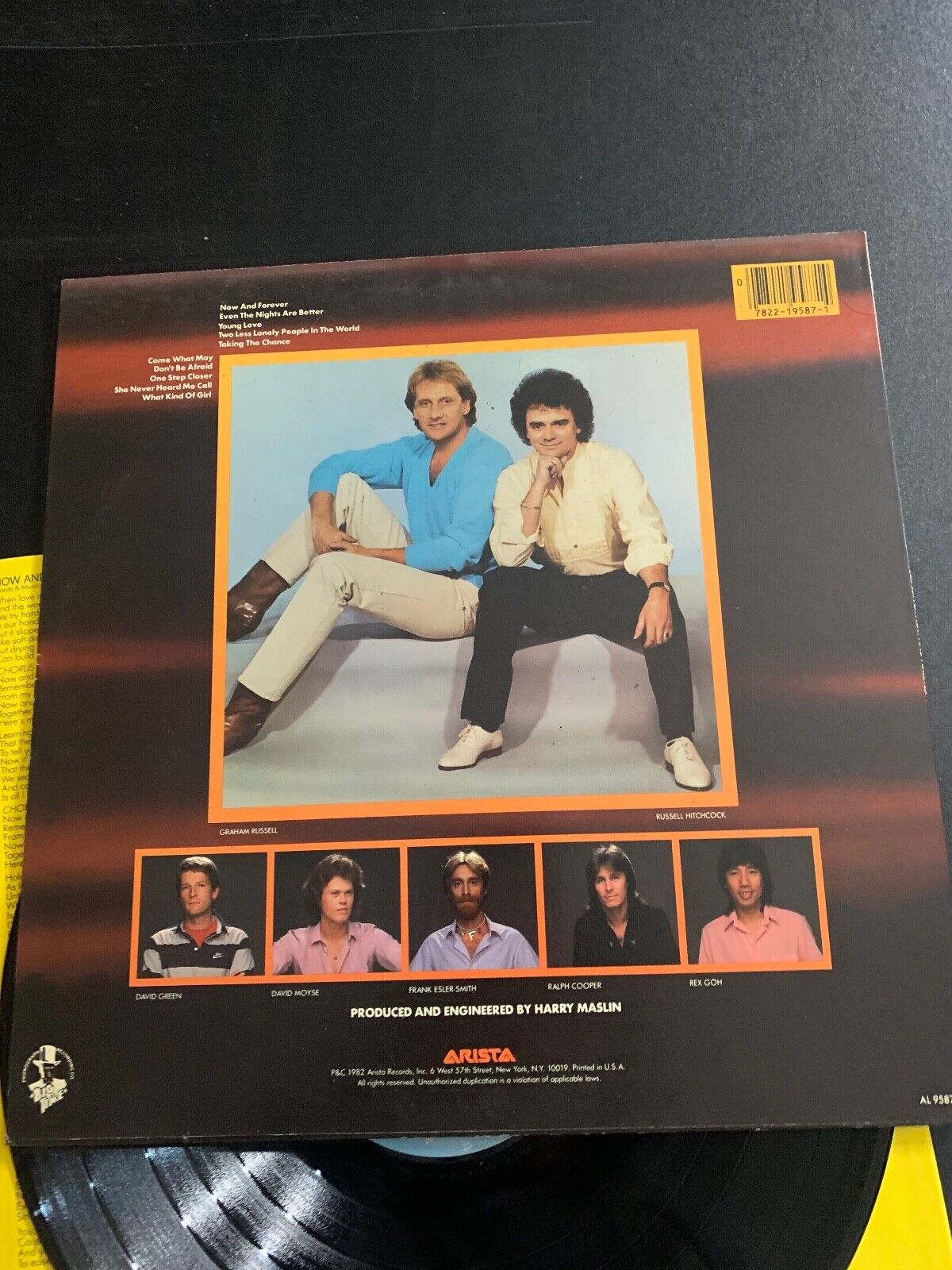 LP RECORD - AIR SUPPLY - NOW AND FOREVER - ARISTA RECORDS - $9.99