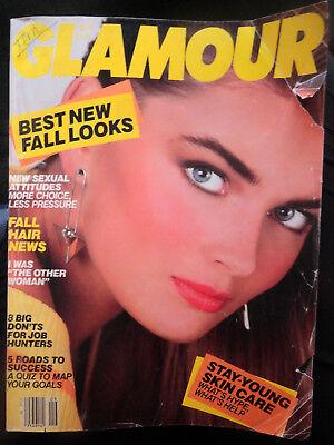 GLAMOUR 9/1985 Sting Stephanie Seymour Yasmin Le Bon David Letterman 80s fashion