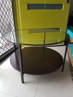 vittsjo coffee table blackbrown glass