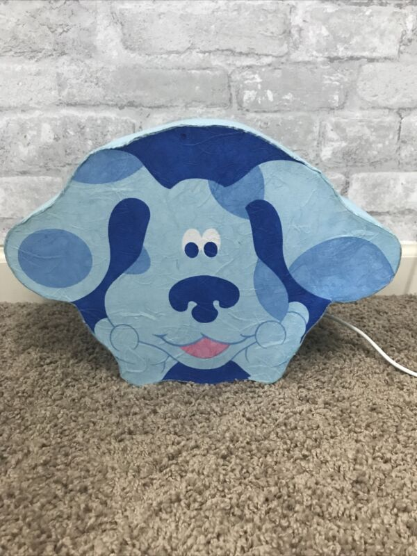 RARE 2001 Baby Blues Clues Plug In Lamp Nightlight with Box by Nick Jr