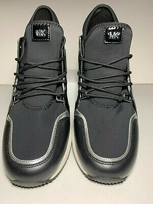 Michael Michael Kors Black Liv Trainer Fashion Sneakers Size 10