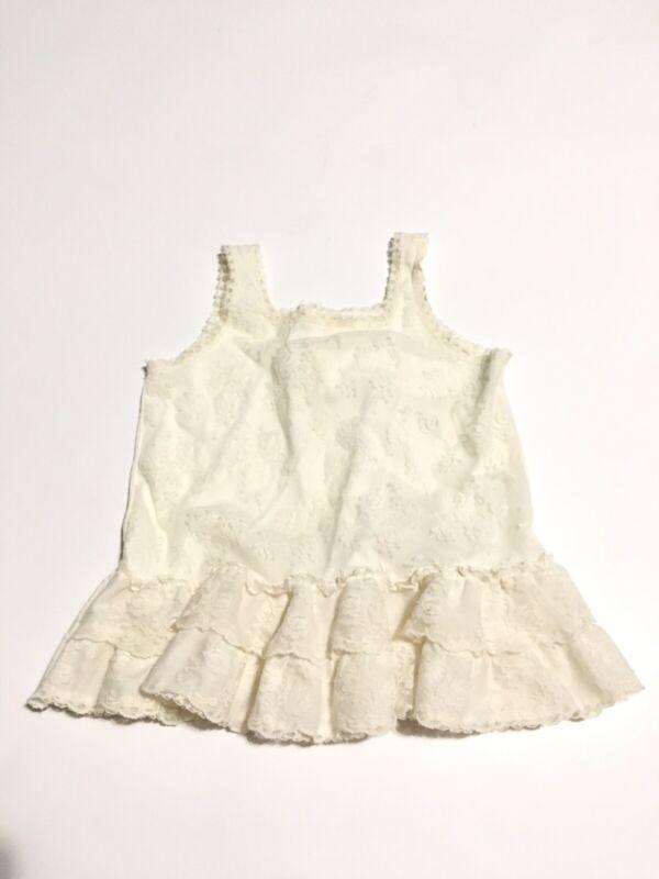 Vtg Little Girl Dress Size 3T Slip 100% Nylon By Her Majesty USA Made