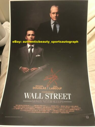 WALL STREET MONEY NEVER SLEEPS MICHAEL DOUGLAS SHIA LABEOUF SIGNED 12x18 REPRINT