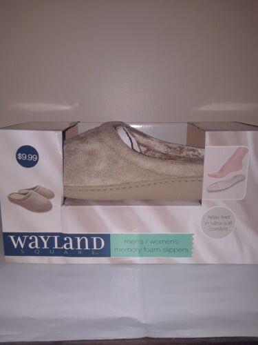 Wayland Square Memory Foam Beige House Slippers Shoes Unisex