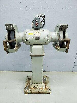Baldor 14 Industrial Pedestal Grinder Model 1411w 7.5hp 460v 3 Phase