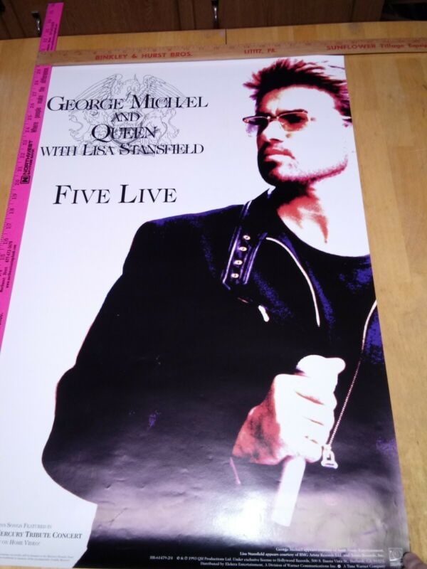 George Michael and Queen with Lisa Stansfield, Five Live, 20 x 30 promo poster