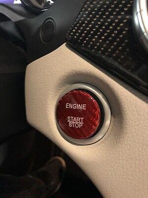 US STOCK Mercedes Keyless GO Engine Start Button GENUINE CARBON RED FAST S&H