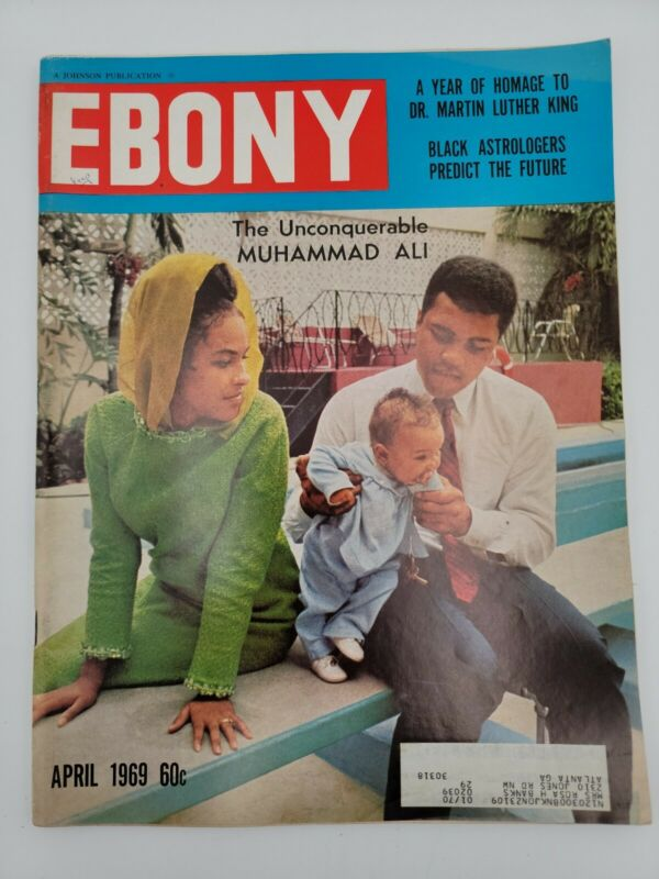 EBONY MAGAZINE MUHAMMAD ALI UNCONQUERABLE  APRIL 1969 VINTAGE COLLECTIBLE