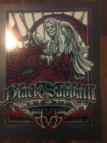 BLACK SABBATH CALGARY EVENT POSTER THE END 2016