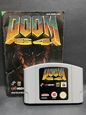 N64 Nintendo 64 Game & Instruction Manual Booklet - Doom 64 - PAL