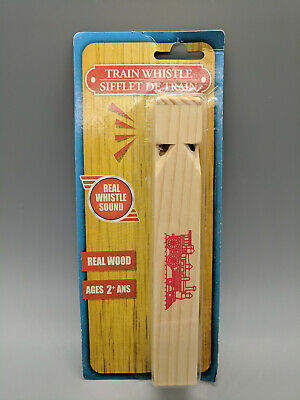 Real Wood Train Whistle-Authentic Train Sound Wooden Whistle-New Unopened- - Train Whistle Sounds