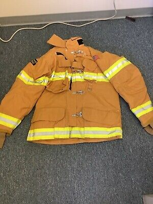 Nos Fire Firefighter 50x35 Lion Apparel Isodri Turnout Coat Jacket 2009