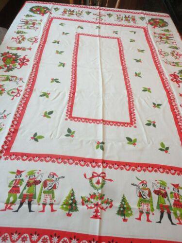 Christmas Tablecloth Vintage 1960