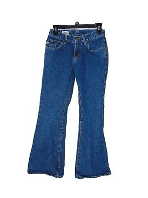 (Pre Owned Lee Dungarees Jeans Size 3 Petite 28 X 28 Low Rise Boot Cut)