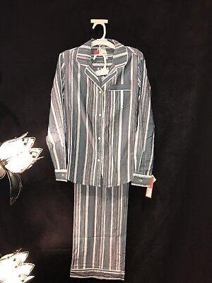 Womens Two Pc. Pajama Outfit, Long Sleeve, Gilligan & Omally, NWT, Striped, S-2X Long Sleeve Striped Pajamas