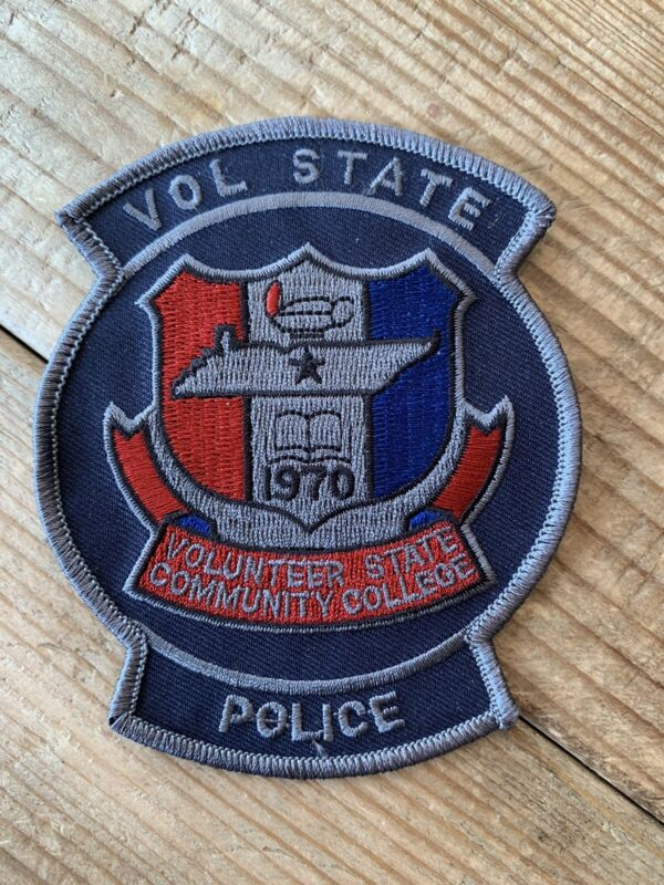 Vol State Community College Tennessee TN Tenn Police Patch New Volunteer
