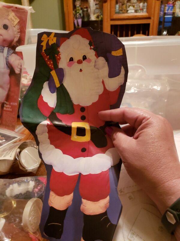 5 Foot High SANTA CLAUS DOOR HANGING - Bucilla Felt Applique Christmas Kit 84017