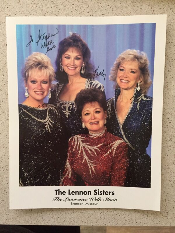"The Lennon Sisters Signed Inscribed 8"" X 10"" Photo  Kathy, Janet, Peggy  Dee Dee"