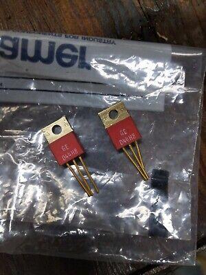 Vintage Ge D44h8 Transistor Red Lot Of 2