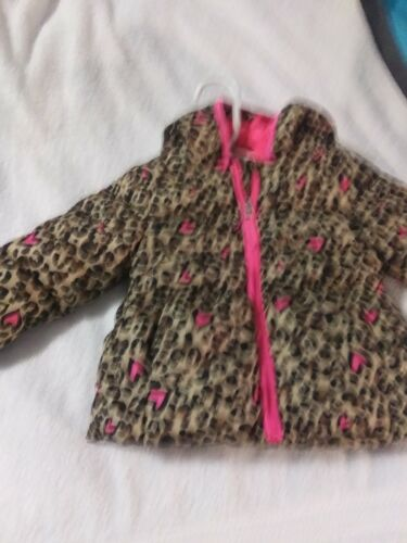 Girls 2T Healthtex Brown Animal Print Puffer Coat
