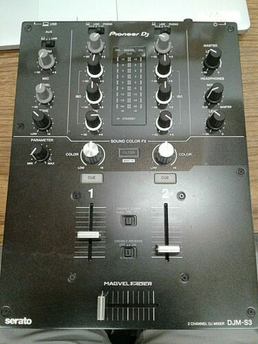 Pioneer DJ DJM-S3 2 channel mixer (no power wire!) FREE SHIPPING