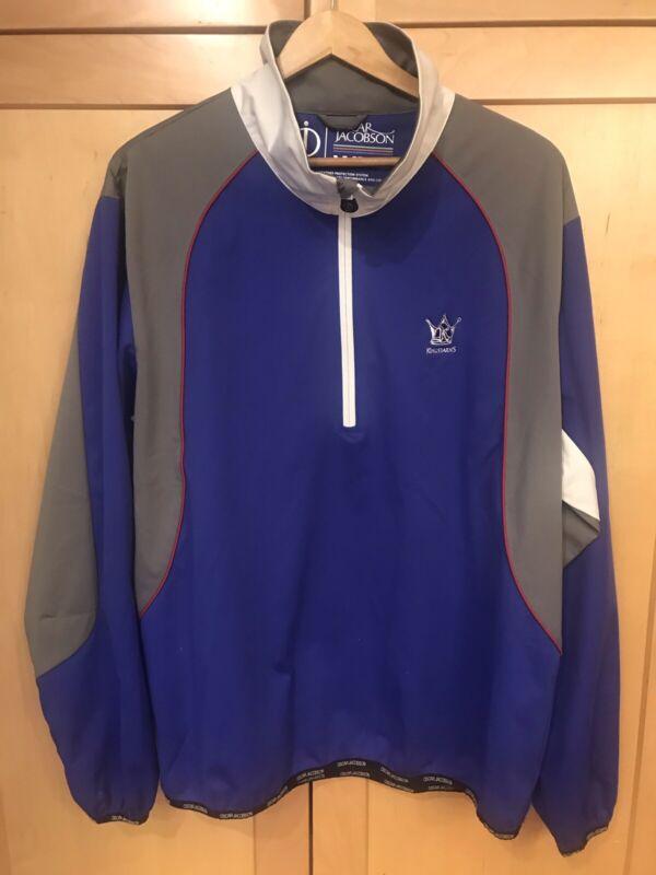 "OSCAR JACOBSON Men's XL 1/2 Zip Pullover WPS Jacket with ""Kingsbarns""Logo EUC"