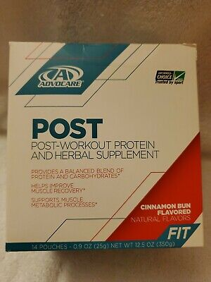 ADVOCARE POST-WORKOUT - Cinnamon Bun -14 Packets **** best buy (Best Post Workout Powder)