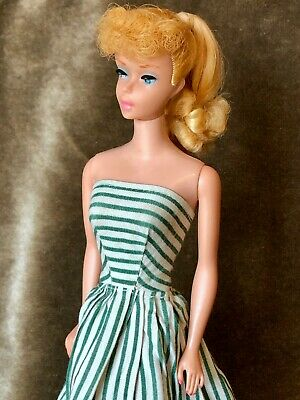 VINTAGE PONYTAIL BARBIE DOLL - BLONDE - BARBIE #5 BODY - GORGEOUS ORIGINAL HAIR