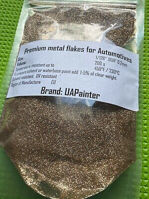 Powder Coating Paint Champagne Gold Sparkle Metal Flake Additive For Auto Bike