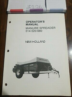 New Holland 514-520-680 Manure Spreader Operators Manual