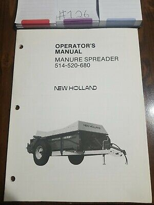 New Holland 514-520-680 Manure Spreader Operators Manual