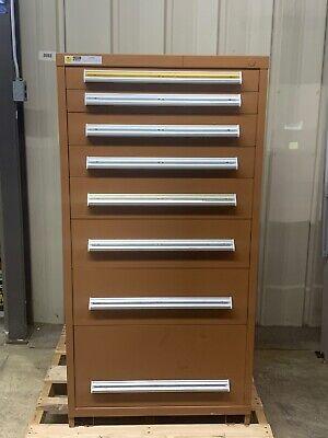 Stanley Vidmar Industrial Storage Cabinet 8-drawer 28 X 30 X 59 Eye Level Height
