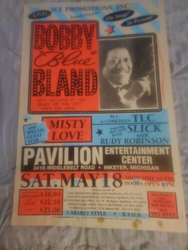 BOBBY BLUE BLAND  SOUL BLUES GLOBE CARDBOARD BOXING STYLE CONCERT POSTER