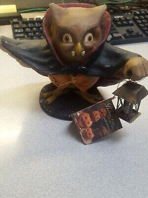 "TD5038 Bethany Lowe 6.75"" Drachootula Halloween Figure Vampire Dracula Owl Fangs"