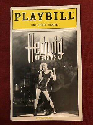 Hedwig and the Angry Inch Playbill March 2000 Matt McGrath Maggie